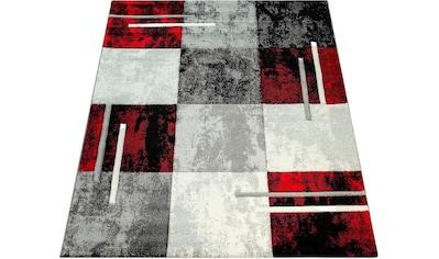 Paco Home Teppich »Diamond 663«, rechteckig, 18 mm Höhe, 3D-Design, Kurzflor mit Karo... kaufen
