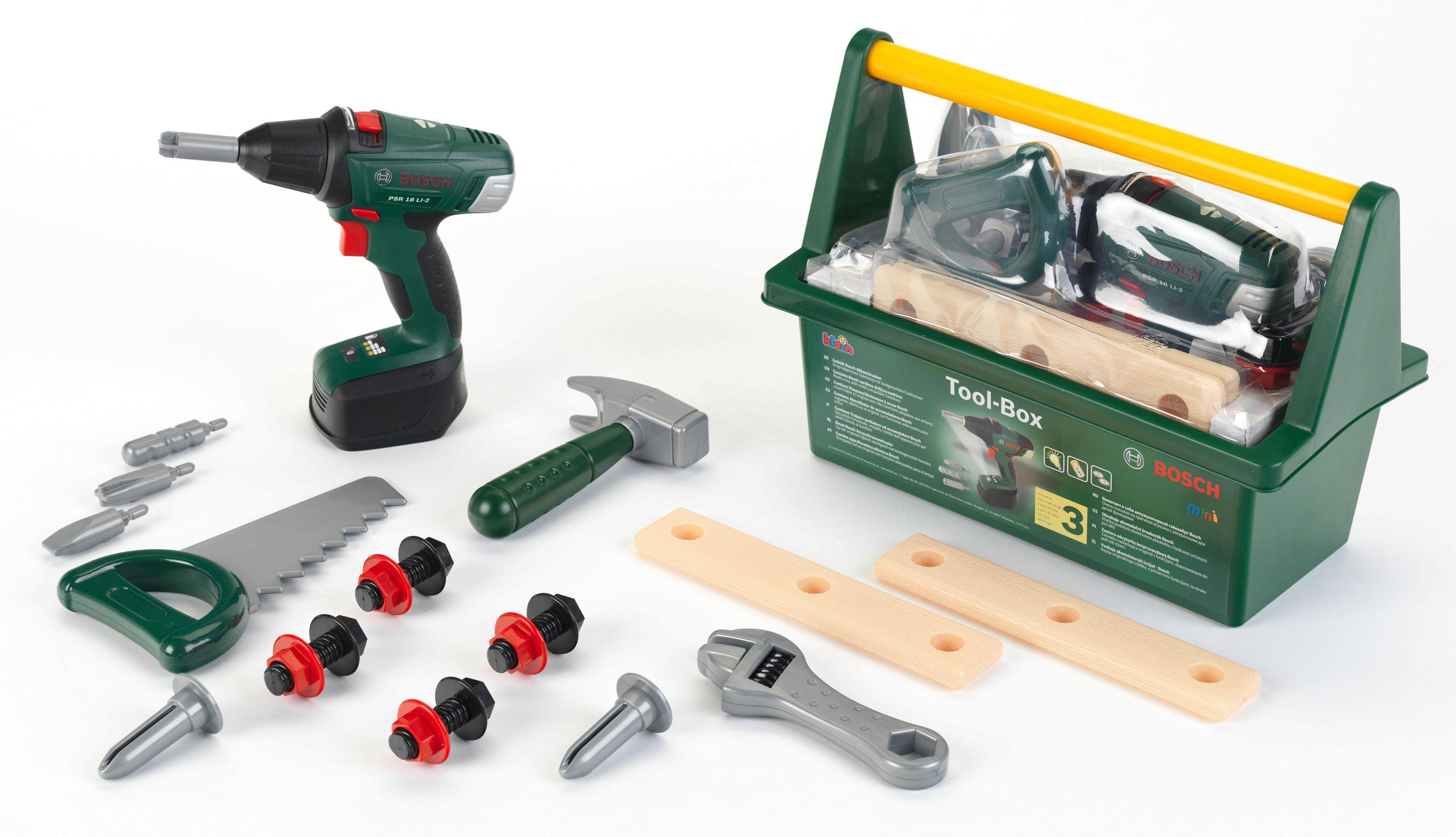 """Klein Spielwerkzeugkoffer """"Bosch Werkzeug-Box"""" Technik & Freizeit/Spielzeug/Werkbänke & Werkzeug/Bosch Kinderwerkzeug"""