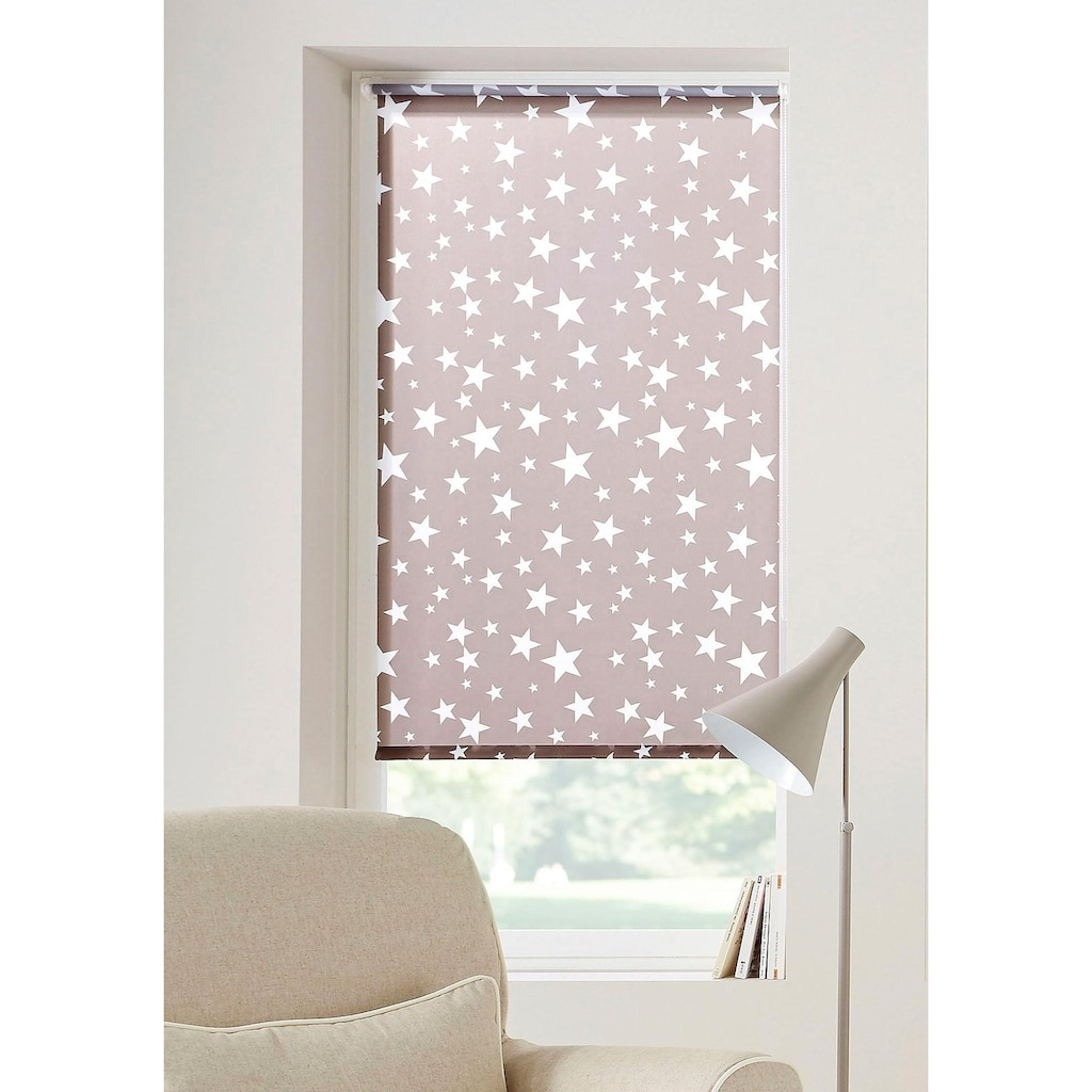 my home Seitenzugrollo »Sanya«, verdunkelnd, ohne Bohren, freihängend, Hitzeschutz