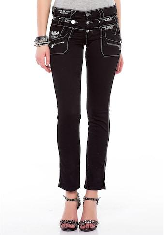 Cipo & Baxx Slim - fit - Jeans »Darkness« kaufen