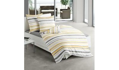 TRAUMSCHLAF Bettwäsche »Milano«, gestreiftes Design auf Mako-Satin kaufen