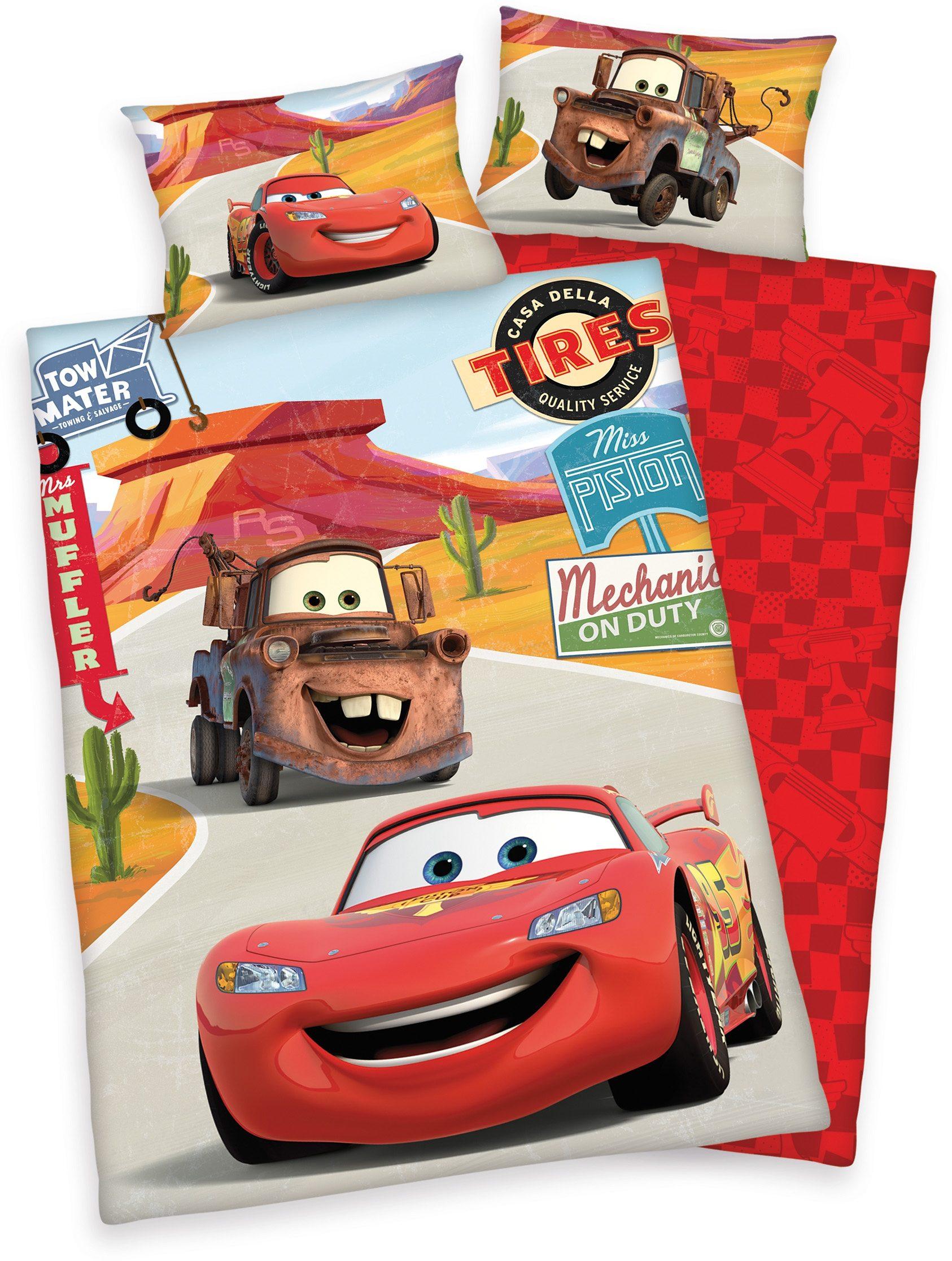 Kinderbettwäsche Cars on Road Disney