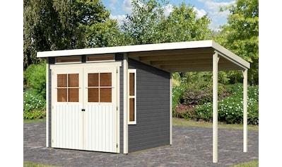 KONIFERA Set: Gartenhaus »Falkensee 3«, BxT: 415x236 cm, mit Anbaudach kaufen