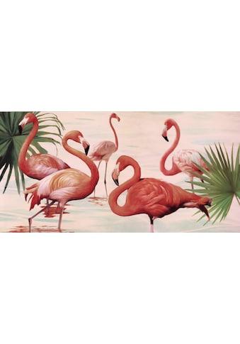 Deco - Panel »TEO RIZZARDI / Flamingos« (100/3/50 cm) kaufen