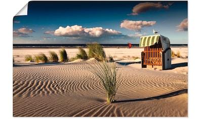 Artland Wandbild »An einem Sommerabend am Strand« kaufen
