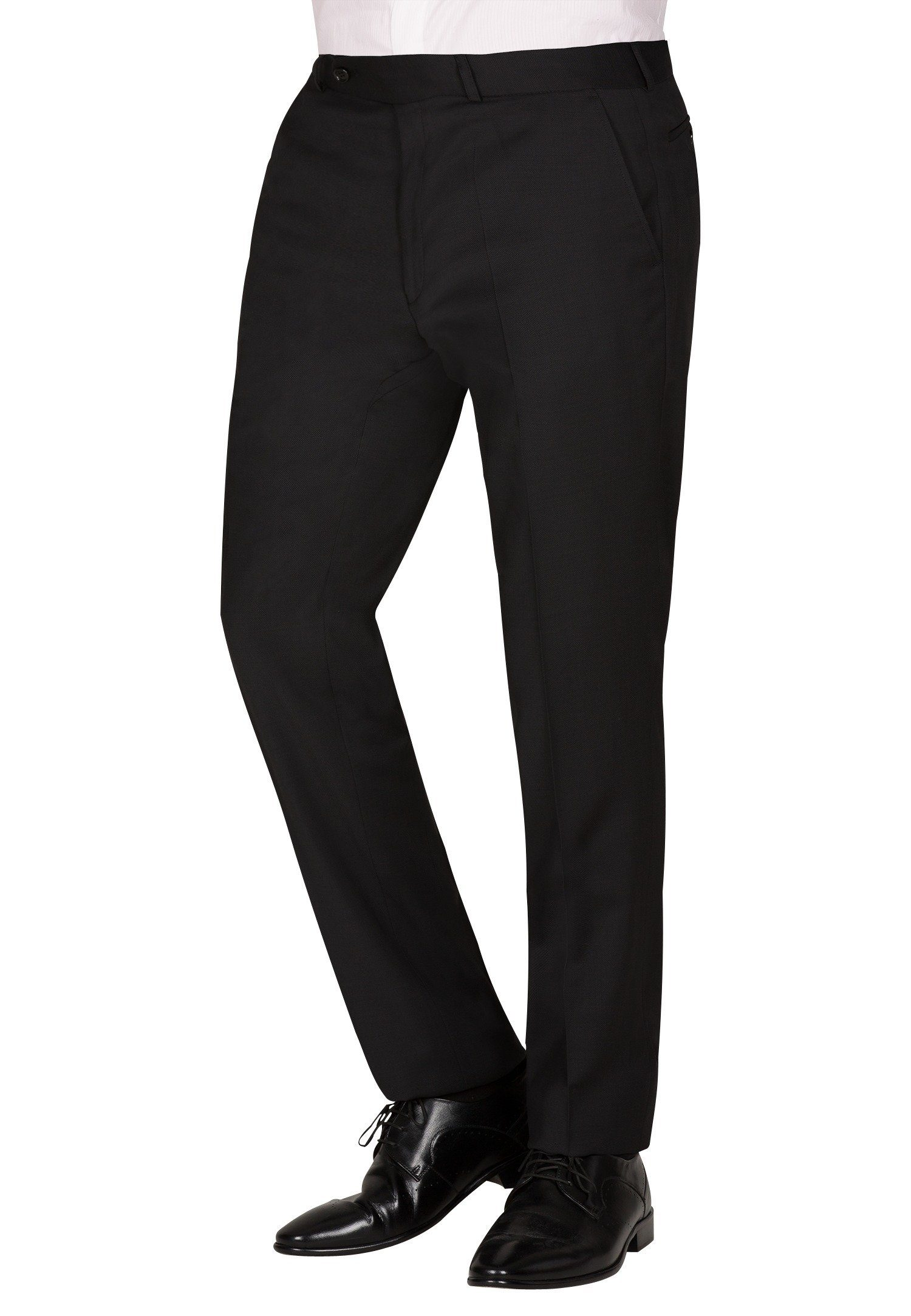 CARL GROSS Anzughose CG Frazer_A | Bekleidung > Hosen > Anzughosen | Schwarz | Schurwolle - Baumwolle | Carl Gross