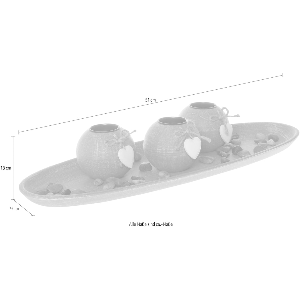 Myflair Möbel & Accessoires Teelichthalter mit Tablett »Teresa«
