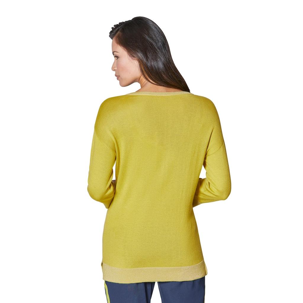 creation L V-Ausschnitt-Pullover »Viskose-Seiden-Pullover«