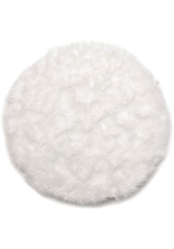Andiamo Stuhlkissen »Ovium«, Sitzauflage, Sitzfell, rund, Ø 34 cm, Kunstfell, waschbar kaufen
