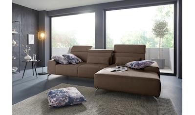sit&more Ecksofa, Fußhöhe 15 cm, inklusive Sitztiefenverstellung und... kaufen