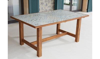 MERXX Gartentisch »Torino«, Keramikfliesentisch, Akazie, 172x105 cm kaufen