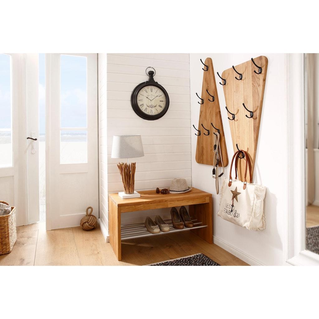 Home affaire Schuhbank »Dura«, aus schönem massiven Wildeichenholz, Breite 82 cm