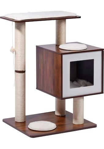 dobar Kratzbaum »Lucy«, hoch, BxTxH: 64x48x80 cm, inkl. Spielball, Katzenhöhle mit... kaufen