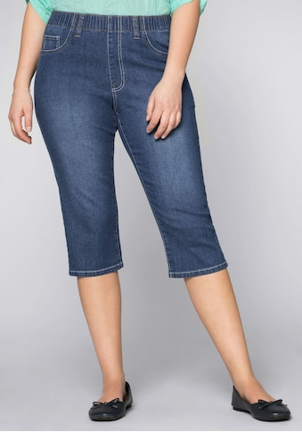 Sheego Jeansjeggings, in Capri-Länge kaufen