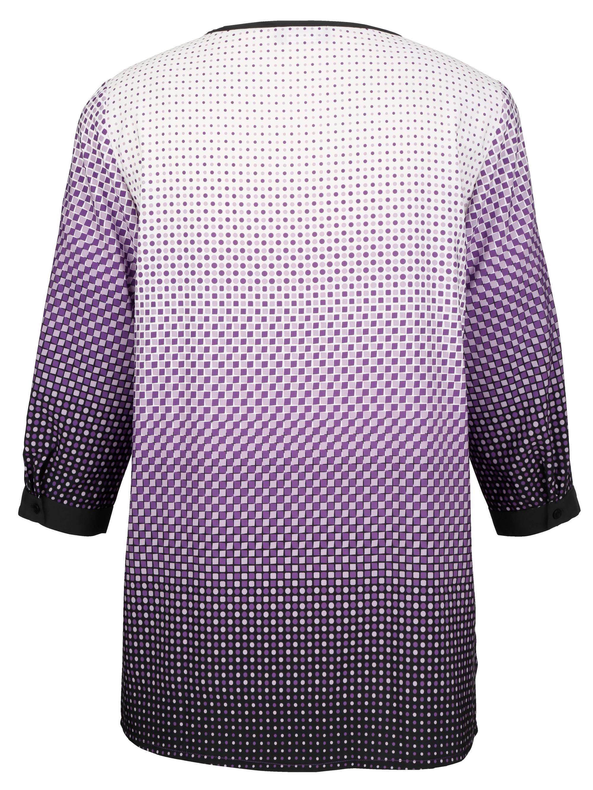 m collection Bluse mit frischem Druckdessin
