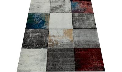Paco Home Teppich »Smaragd 751«, rechteckig, 18 mm Höhe, Kurzflor mit 3D-Design,... kaufen