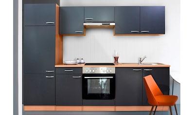 RESPEKTA Küchenzeile »Basic«, mit Glaskeramik-Kochfeld, Breite 270 cm kaufen