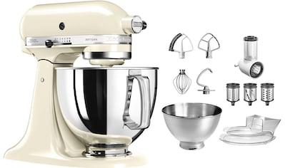 KitchenAid Küchenmaschine Artisan 5KSM175PSEAC mit Gratis Gemüseschneider und 3 Trommeln, 300 Watt, Schüssel 4,8 Liter kaufen