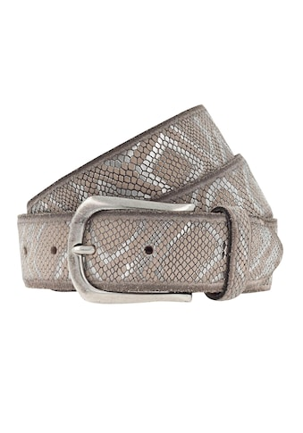 b.belt Ledergürtel, mit Metallic Snakeprägung kaufen