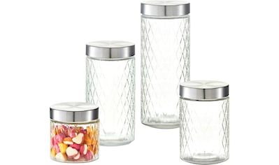 Zeller Present Vorratsglas »Raute«, (Set, 4 tlg.) kaufen