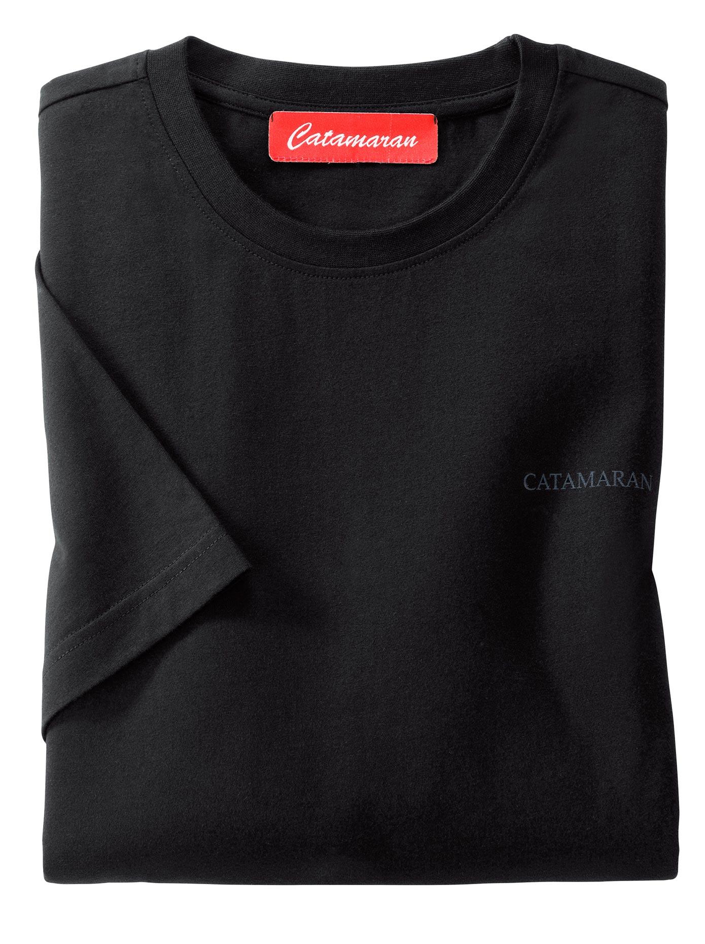 Catamaran Kurzarm-Shirt mit Rundhals-Ausschnitt (3 Stck)   Bekleidung > Shirts > Sonstige Shirts   Schwarz   Catamaran