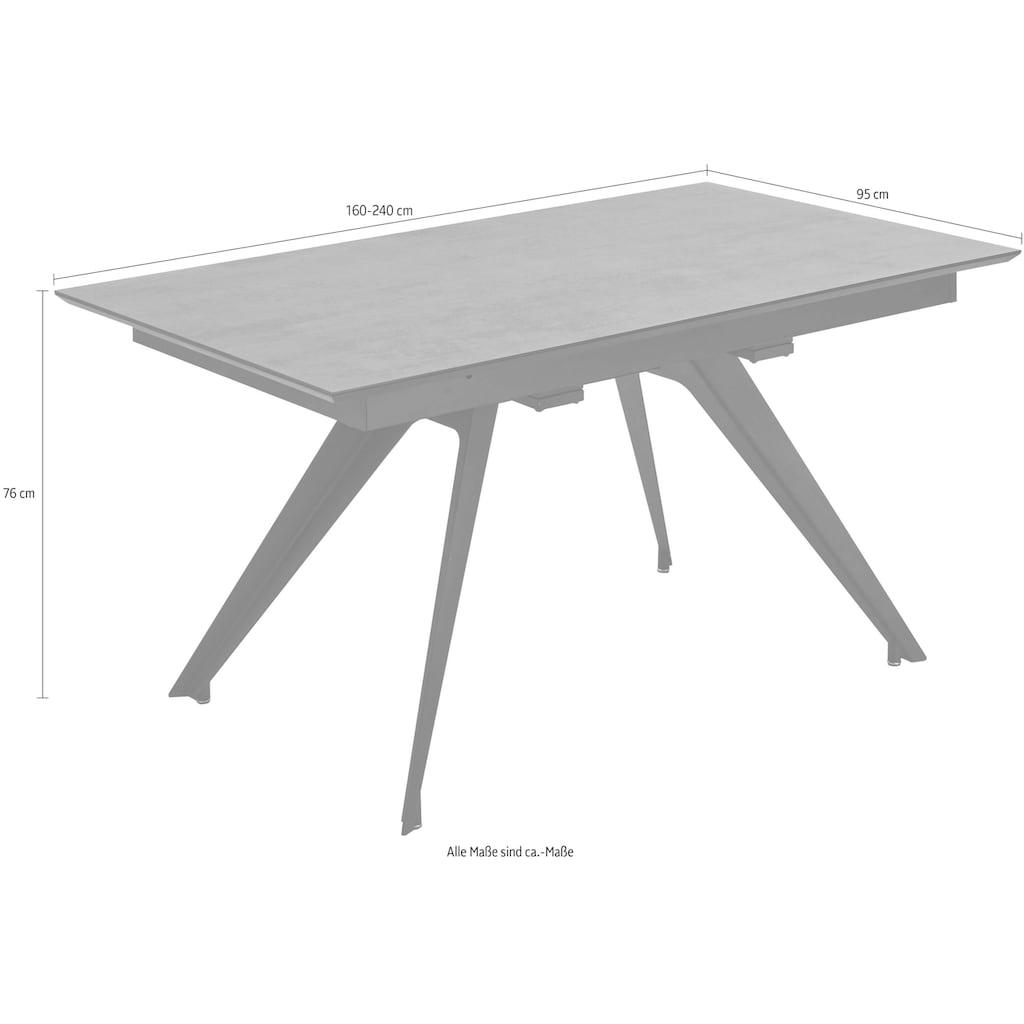 NIEHOFF SITZMÖBEL Esstisch »Update«, eine Falteinlage 80 cm
