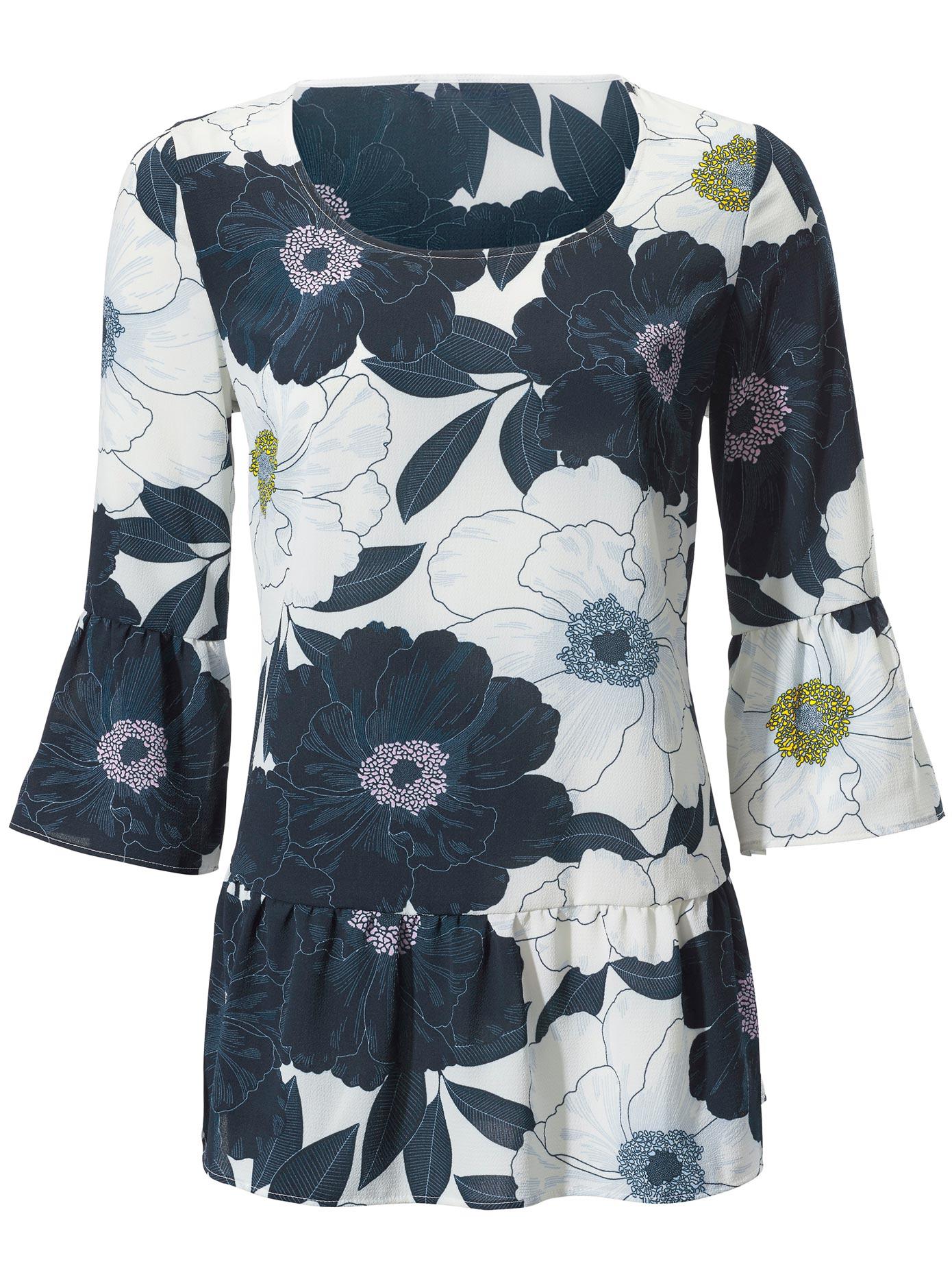 création L Bluse mit Blütendruck