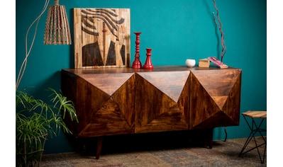 Home affaire Sideboard »Violet Diamond«, mit Diamantenstruktur aus massivem Mangoholz,... kaufen