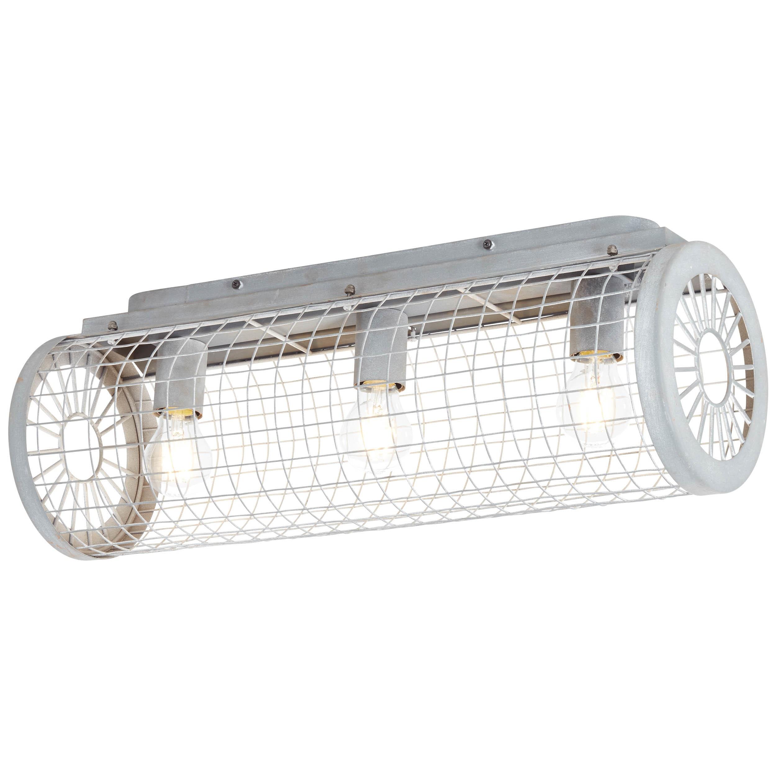 Brilliant Leuchten Net Deckenleuchte 3flg grau Beton | Lampen > Deckenleuchten > Deckenlampen | Grau | Beton - Metall | BRILLIANT LEUCHTEN