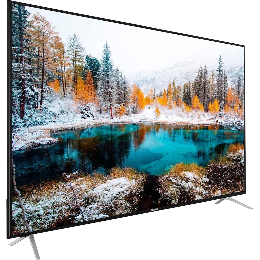 "Telefunken LED-Fernseher »D65V800M4CWH«, 164 cm/65 "", 4K Ultra HD, Smart-TV, 36 Monaten Herstellerlangzeitgarantie"