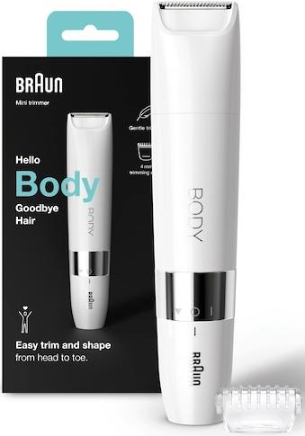 Braun Elektrokörperrasierer »Mini Body-& Bikini-Trimmer BS1000«, 2 St. Aufsätze, Mini-Größe für unterwegs kaufen