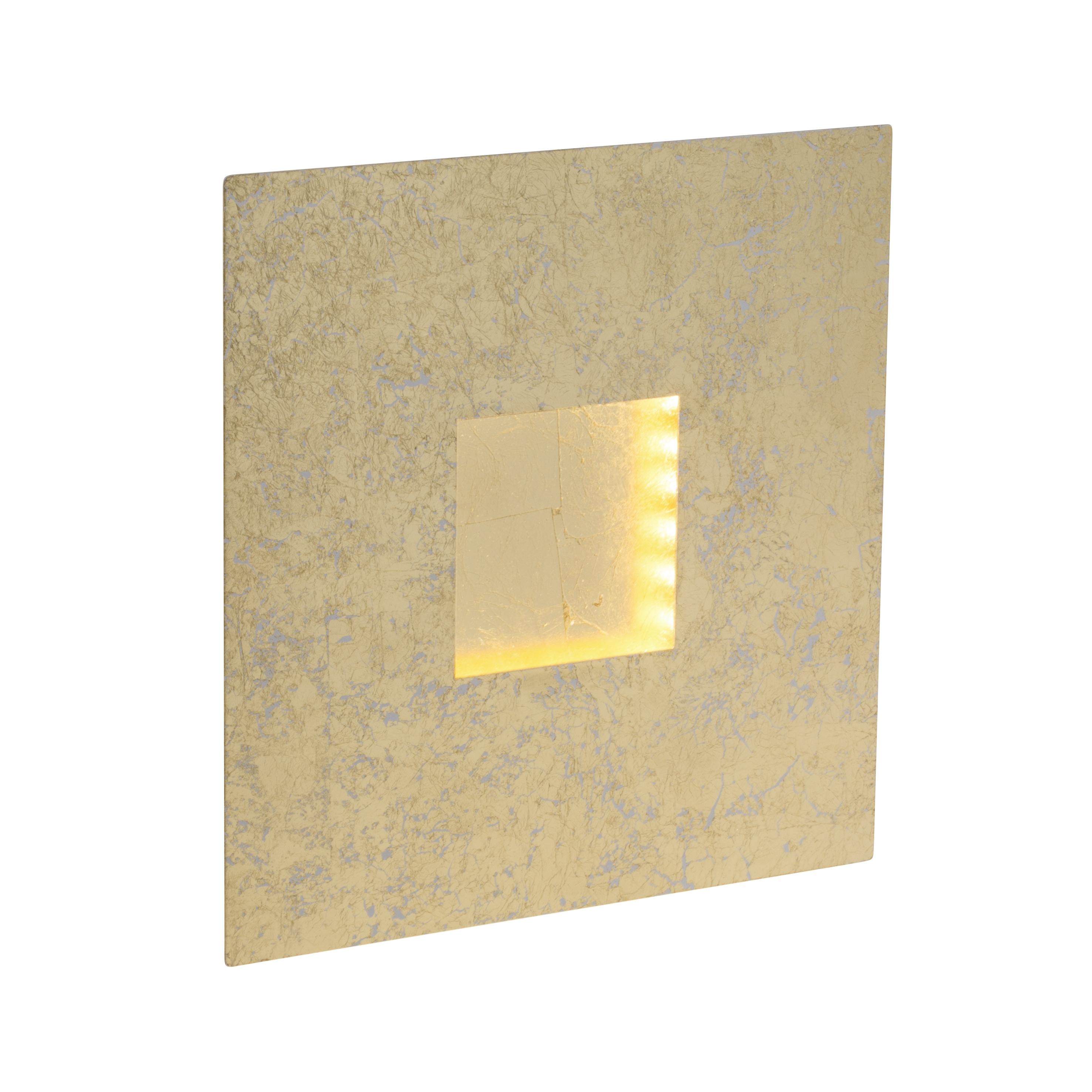Brilliant Leuchten Pyramid LED Wandleuchte gold/weiß