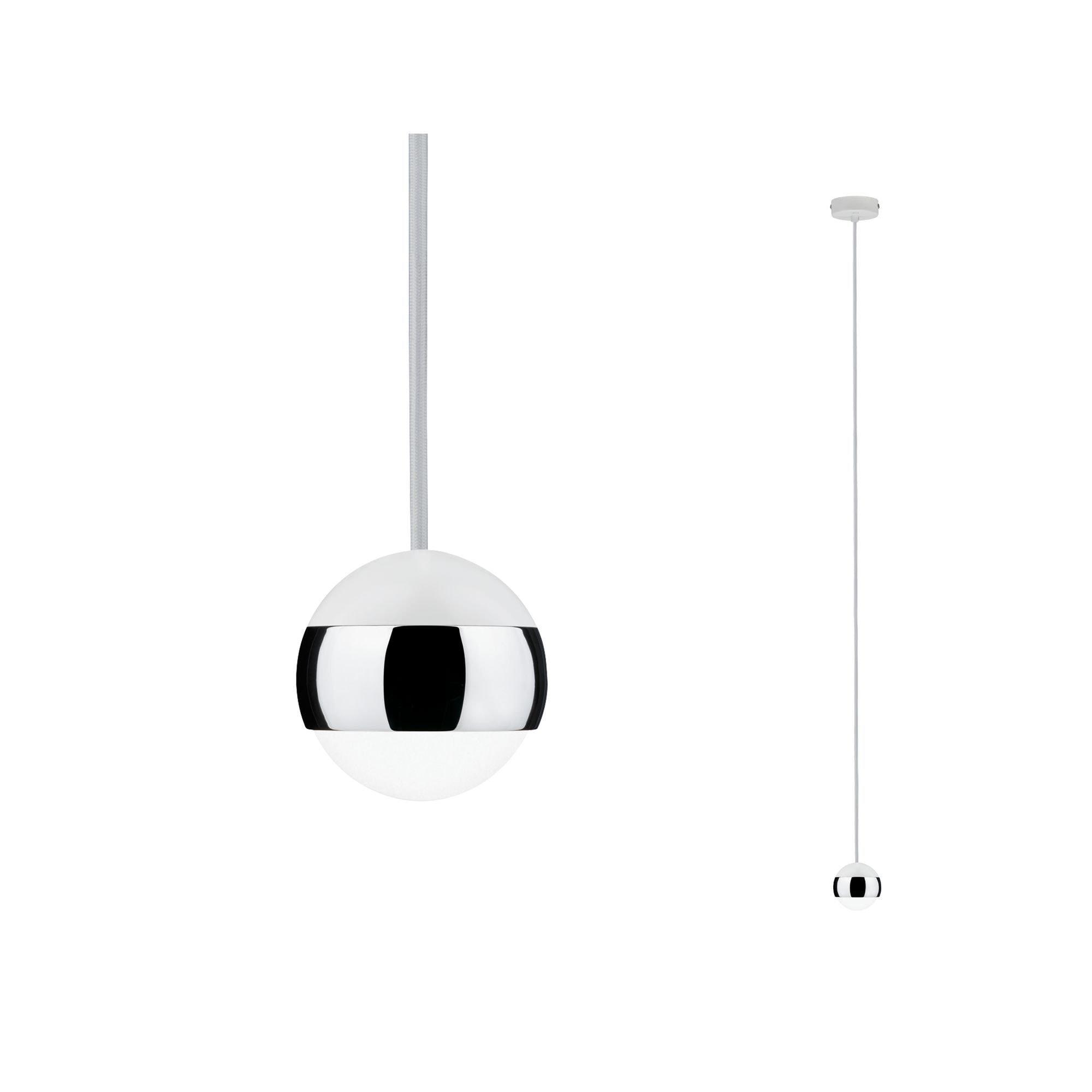 Paulmann LED Pendelleuchte Capsule 6W Weiß/Chrom, 1 St., Warmweiß