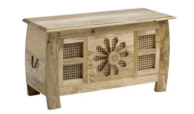 Truhenbank aus Massivholz,  kunsthandwerklich gefertigt kaufen