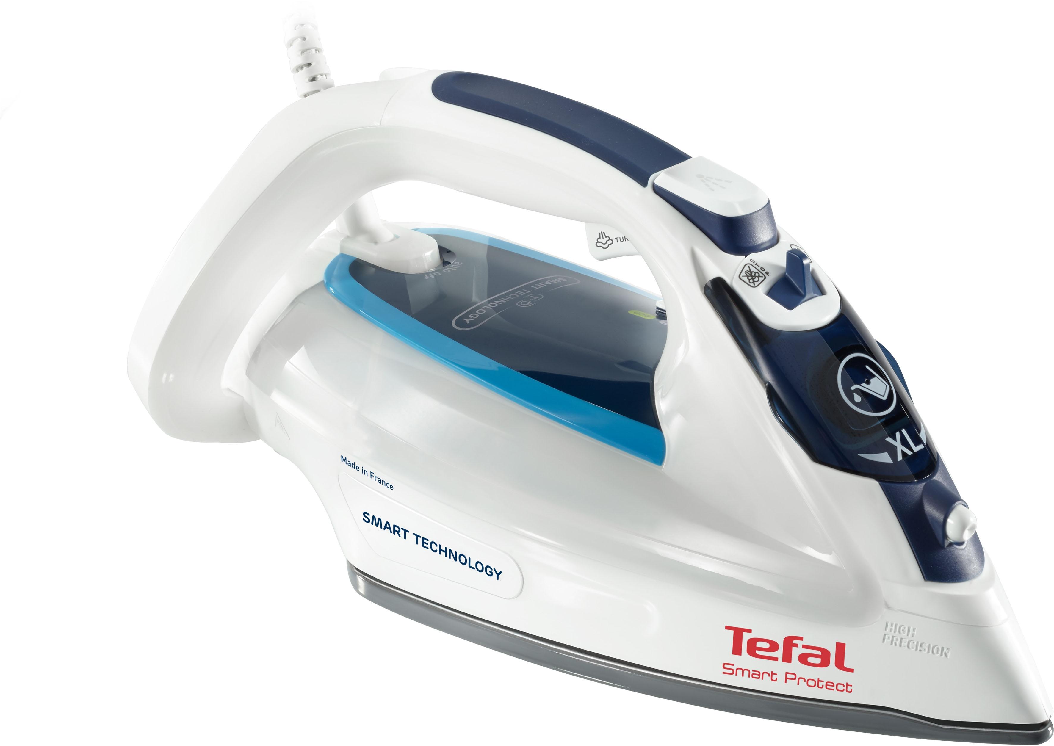 Tefal Dampfbügeleisen FV4980 Smart Protect, 2600 Watt weiß Bügeleisen Bügelstationen Haushaltsgeräte