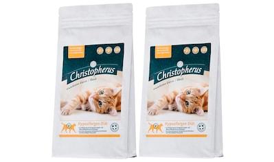 Christopherus Set: Katzentrockenfutter »Hypoallergen - Diät«, 2 Beutel á 1 kg kaufen