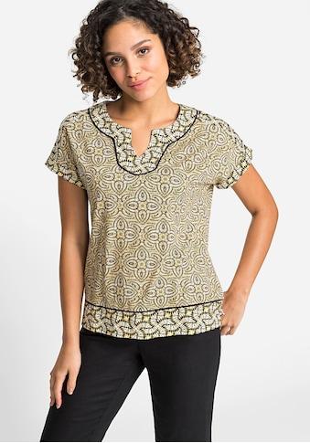 Olsen Rundhalsshirt, mit kombiniertem Print kaufen