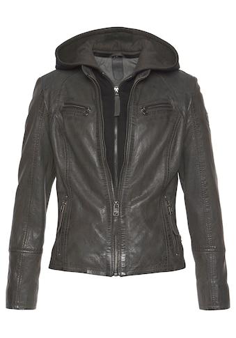 Gipsy Lederjacke »Nola«, Two-in-One Style - mit abnehmbarer Jersey-Kapuze kaufen