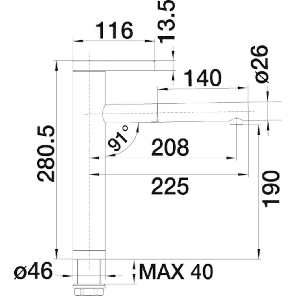 Blanco Küchenarmatur »LINEE-S«, Hochdruck, mit ausziehbarem Auslauf