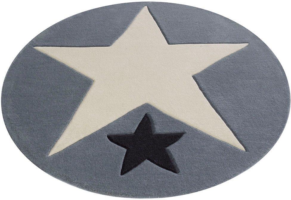Kinderteppich 707 Rock STAR Baby rund Höhe 10 mm