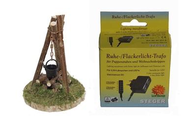 Alfred Kolbe Krippen-Zubehör »Lagerfeuer mit Beleuchtung und Flacker-Ruhelicht Trafo... kaufen