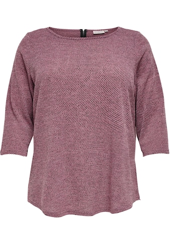 ONLY CARMAKOMA 3/4-Arm-Shirt »CARMARTHA«, mit Rücken-Reißverschluss kaufen