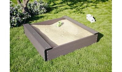 Kiehn-Holz Sandkasten, BxLxH: 120x120x27 cm kaufen