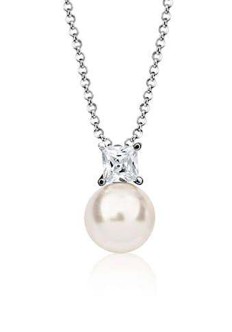 Nenalina Perlenkette »Zirkonia Perle Swarovski® Kristalle 925 Silber« kaufen
