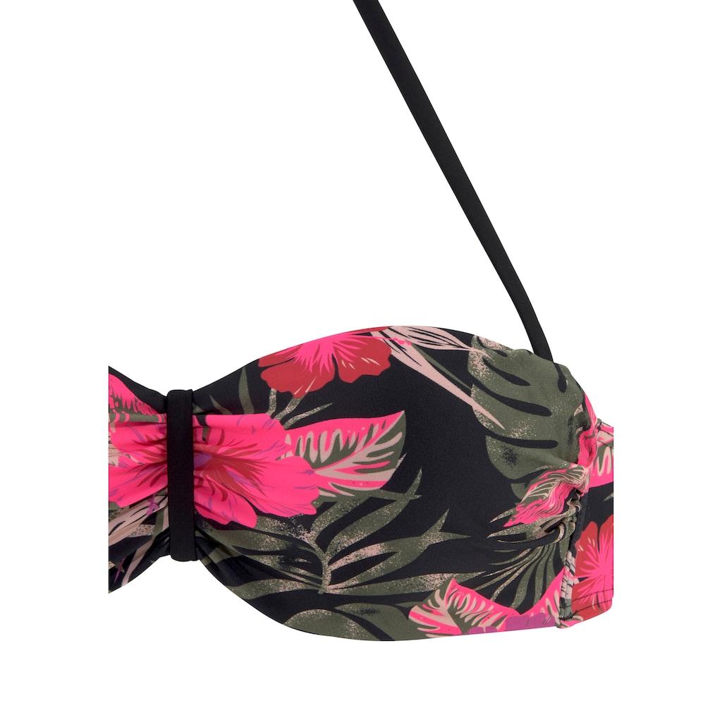 LASCANA Bügel-Bandeau-Bikini-Top »Elsa«, mit floralem Druck