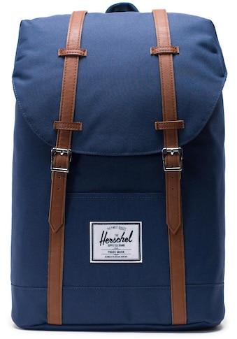 Herschel Laptoprucksack »Retreat, Navy/Tan« kaufen