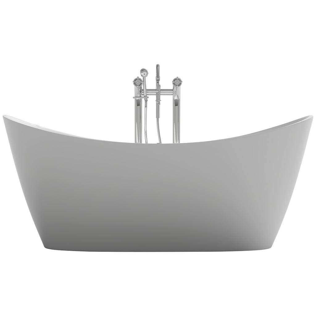 HOME DELUXE Whirlpool-Badewanne »Ovalo Plus«, 181 / 90 / 72 cm, freistehend
