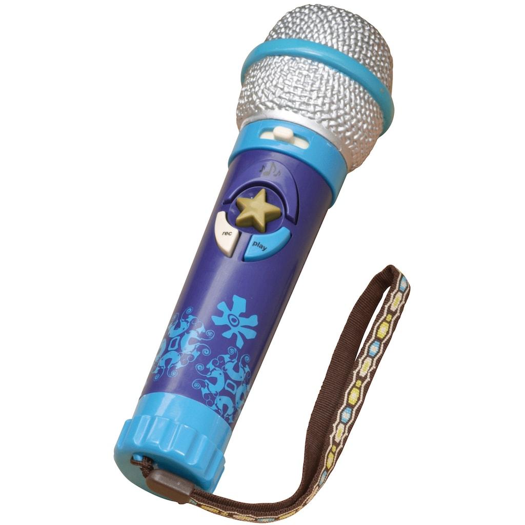 B. Mikrofon »Okideoke- Navy«, mit Aufnahmefunktion