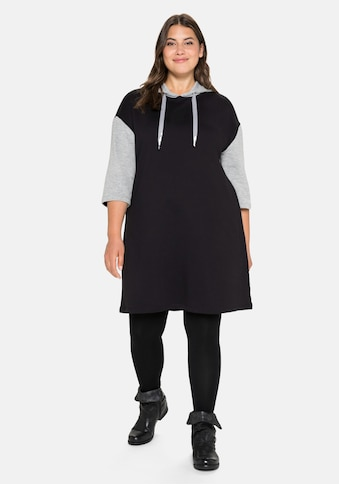 Sheego Sweatkleid, mit Kapuze und Kontrastdetails kaufen