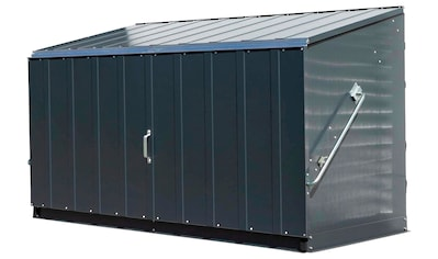 TRIMETALS Fahrrad - /Mülltonnenunterstand »Storeguard«, für 2x240 l, Stahl, BxTxH: 196x89x113 cm kaufen